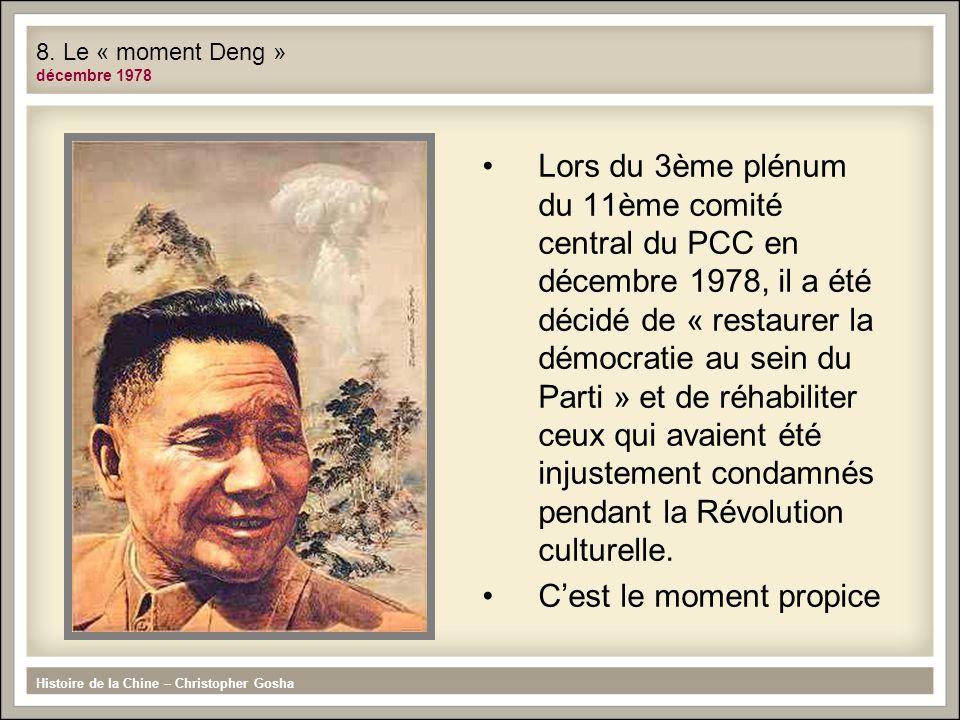 8. Le « moment Deng » décembre 1978