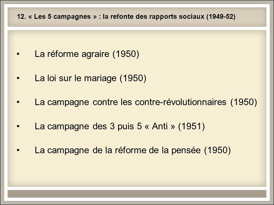12. « Les 5 campagnes » : la refonte des rapports sociaux (1949-52)