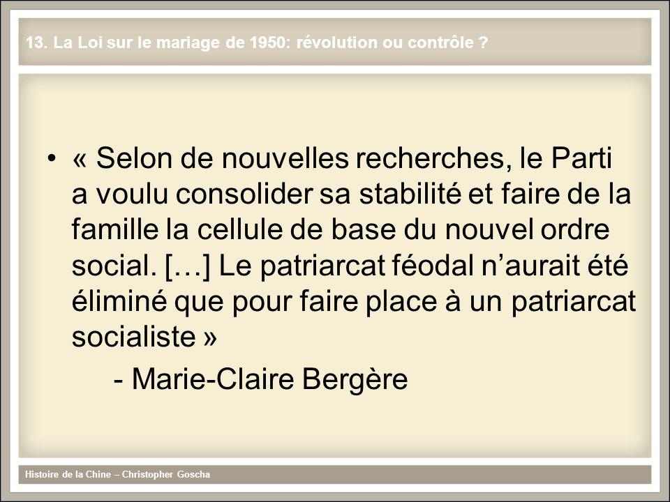 - Marie-Claire Bergère
