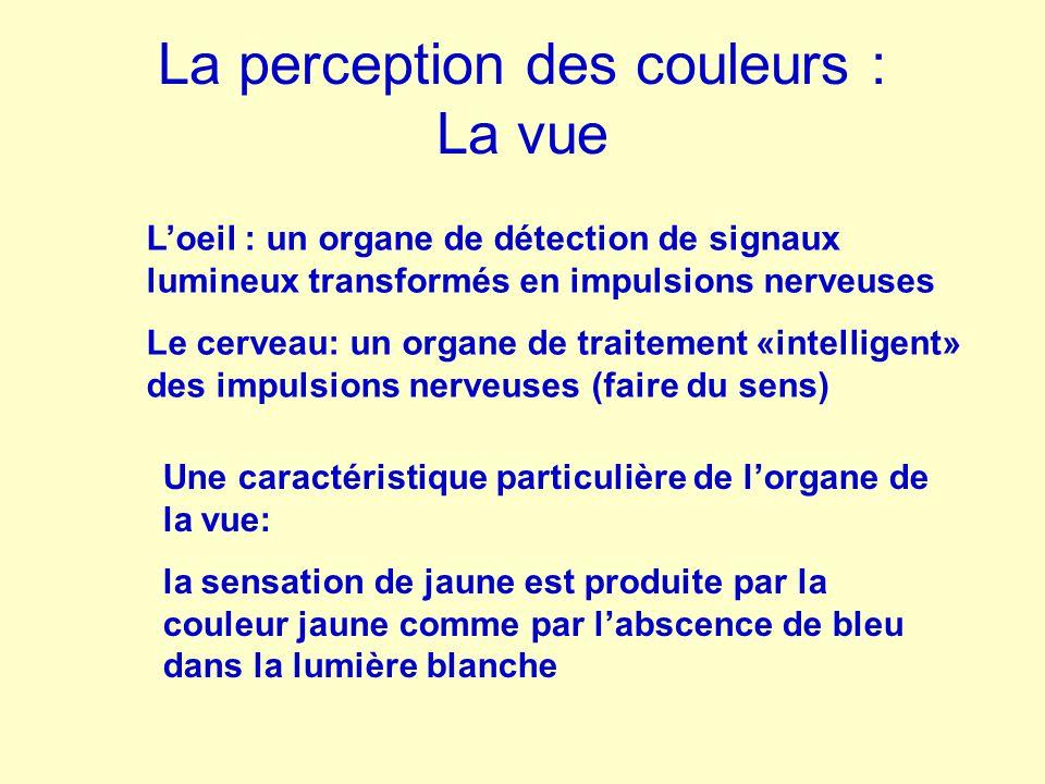 La perception des couleurs : La vue