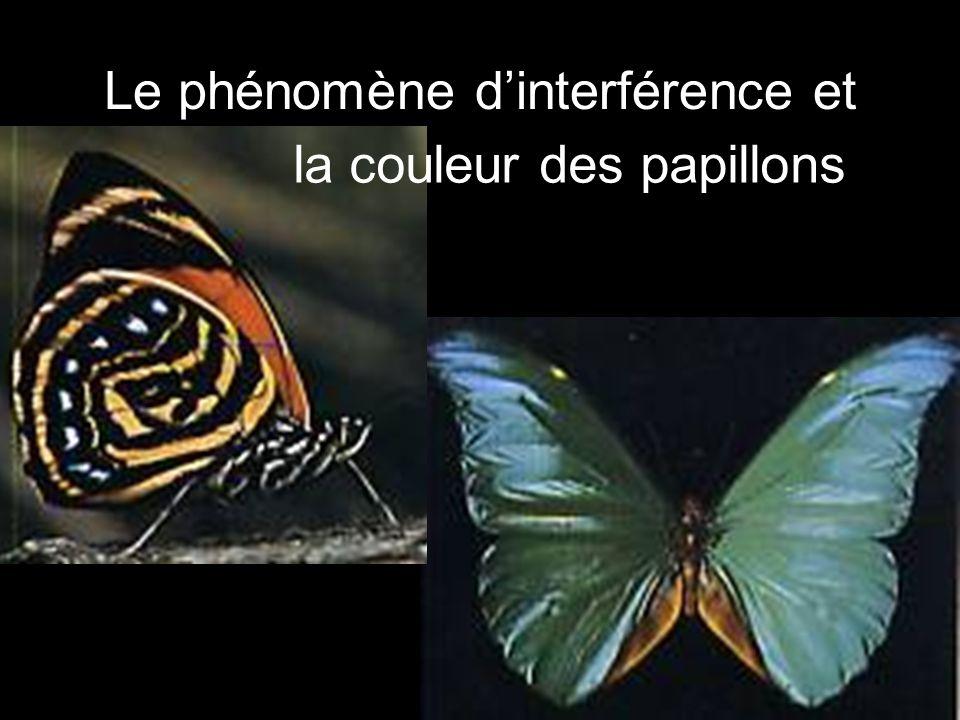 Le phénomène d'interférence et