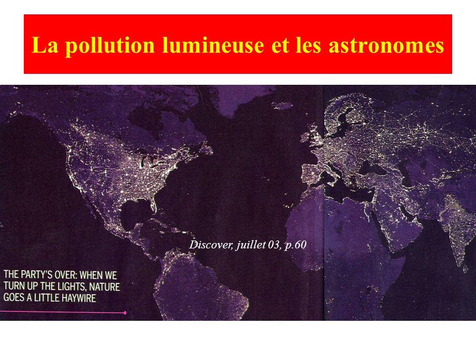 La pollution lumineuse et les astronomes