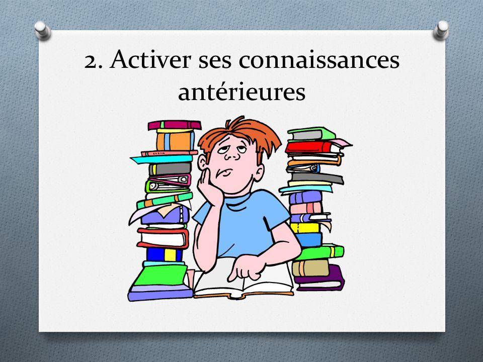 2. Activer ses connaissances antérieures