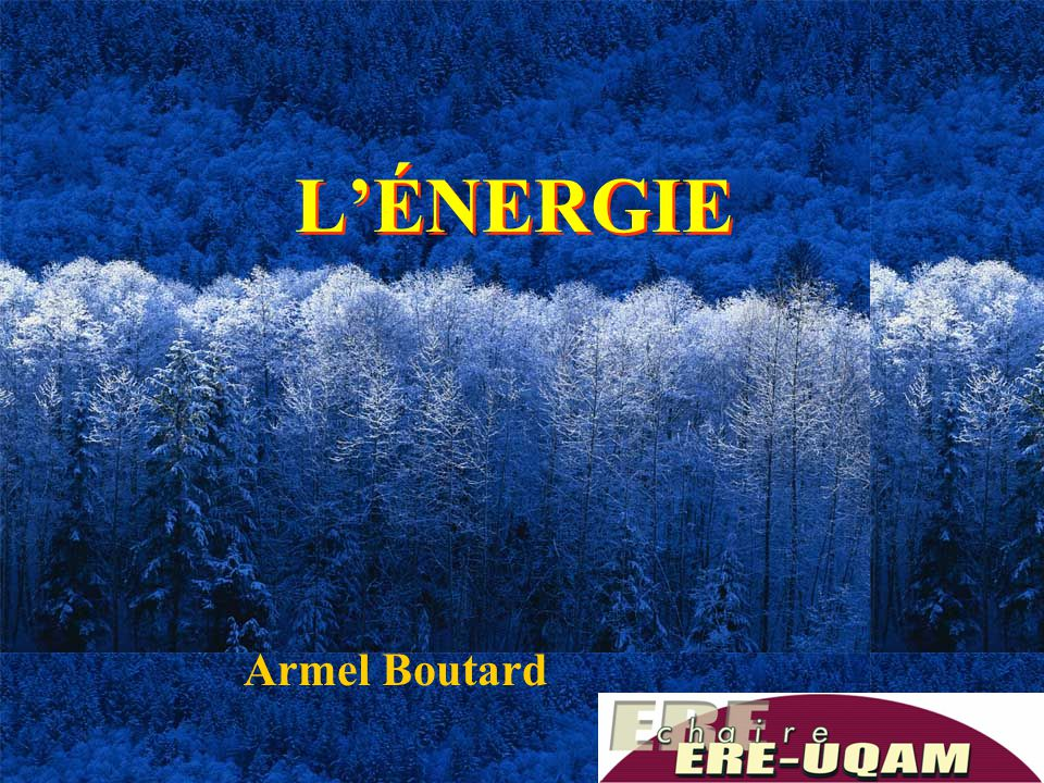 L'ÉNERGIE Armel Boutard