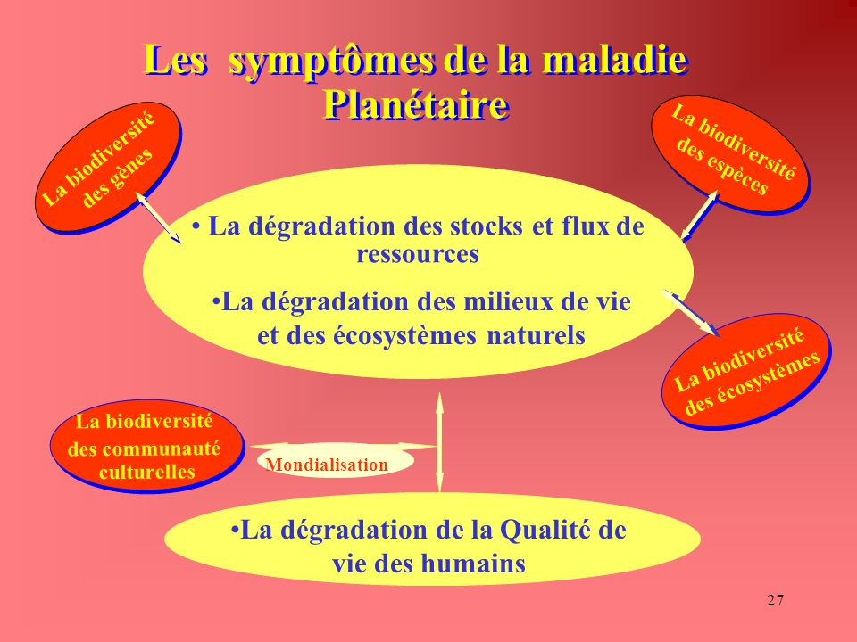 Les symptômes de la maladie Planétaire