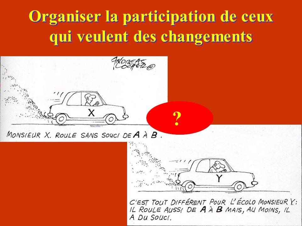 Organiser la participation de ceux qui veulent des changements