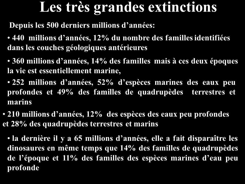 Les très grandes extinctions