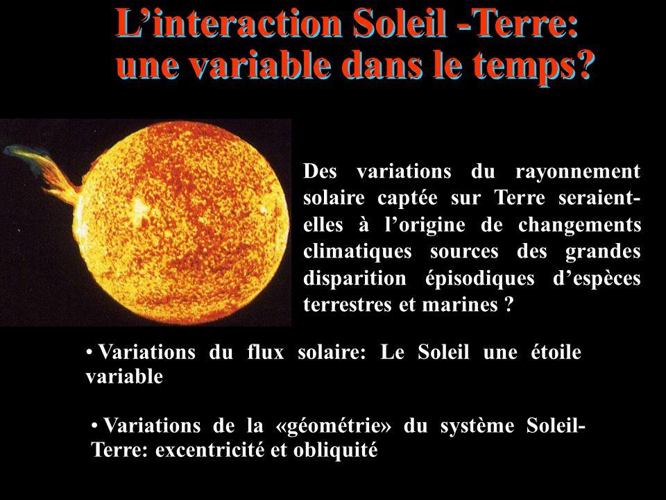 L'interaction Soleil -Terre: une variable dans le temps