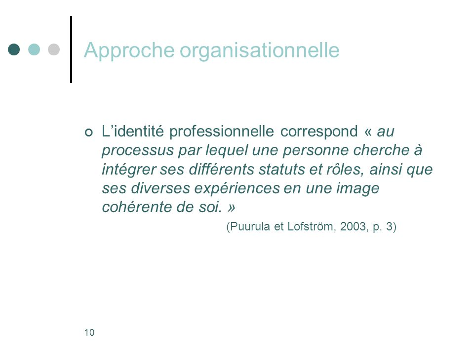 Approche organisationnelle