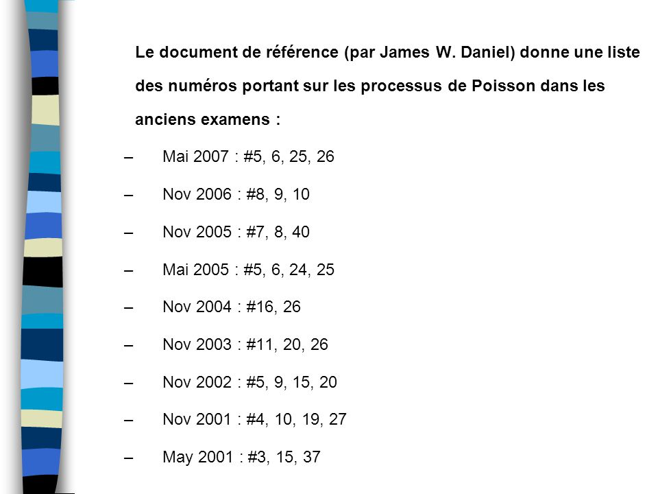 Le document de référence (par James W