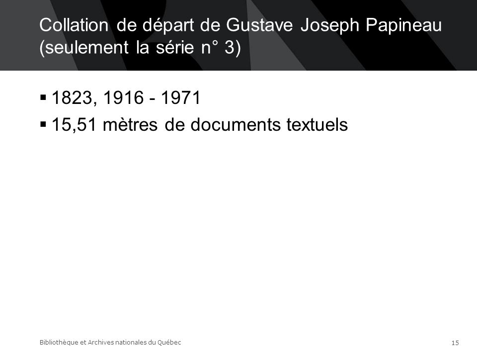 15,51 mètres de documents textuels