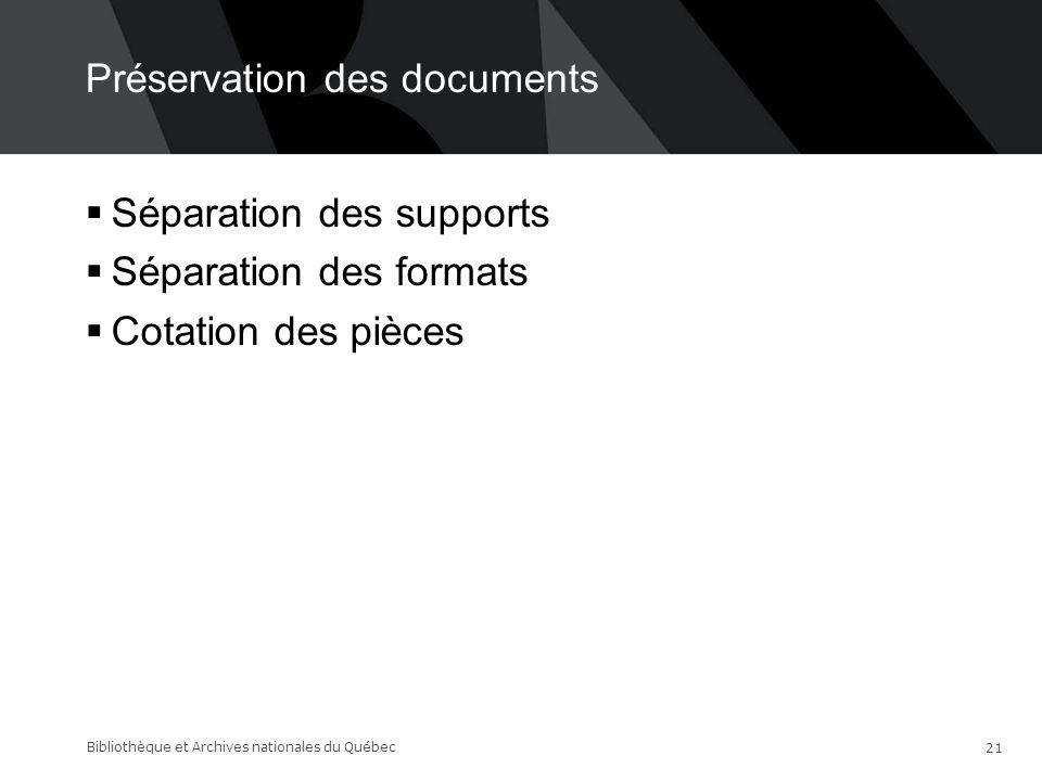 Préservation des documents