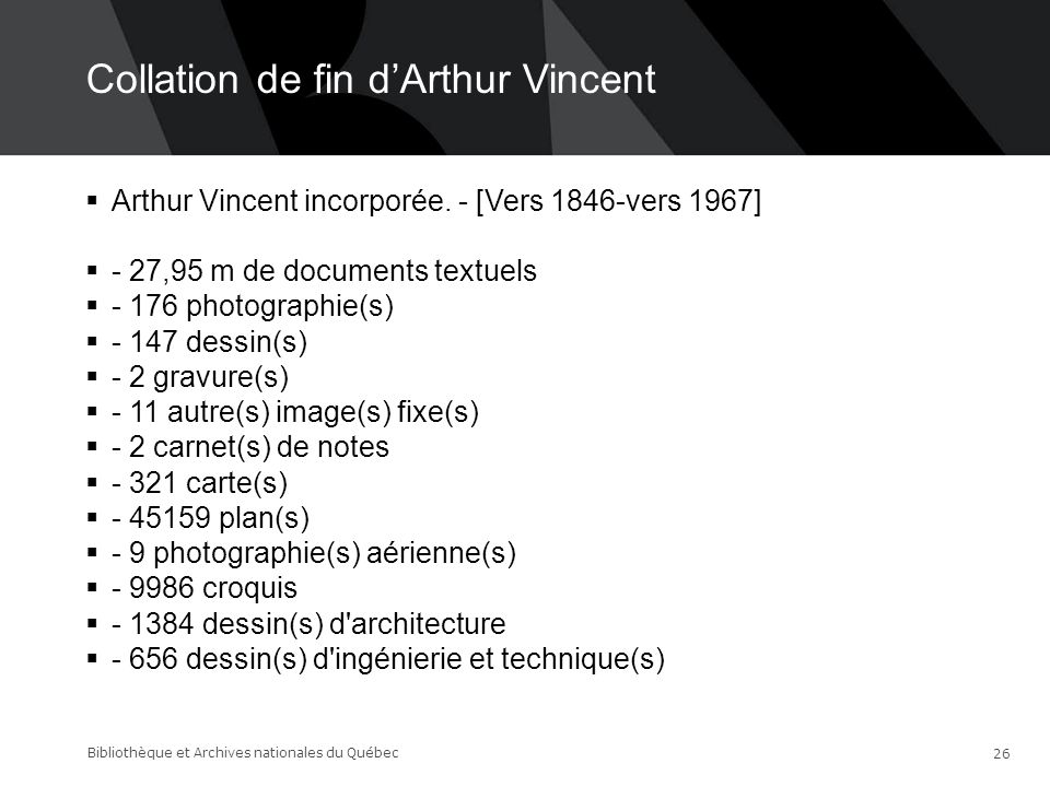 Collation de fin d'Arthur Vincent