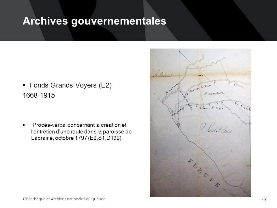 Archives gouvernementales