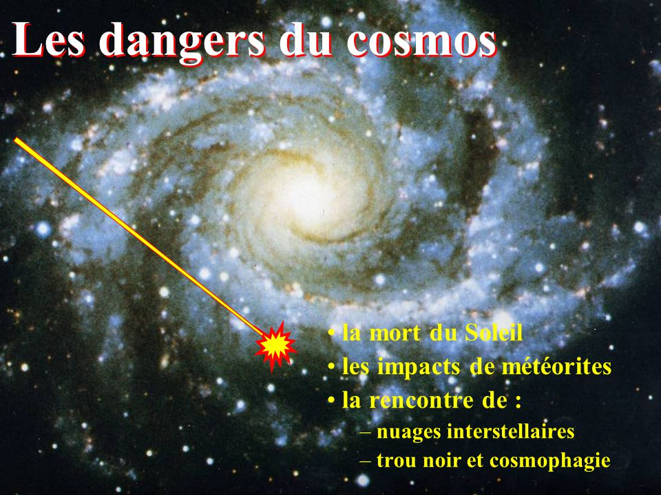Les dangers du cosmos la mort du Soleil les impacts de météorites