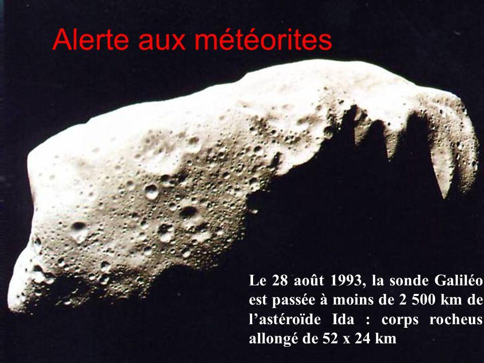 Alerte aux météorites Voyage dans le système solaire, Serge Brunier, Bordas, p. 106.