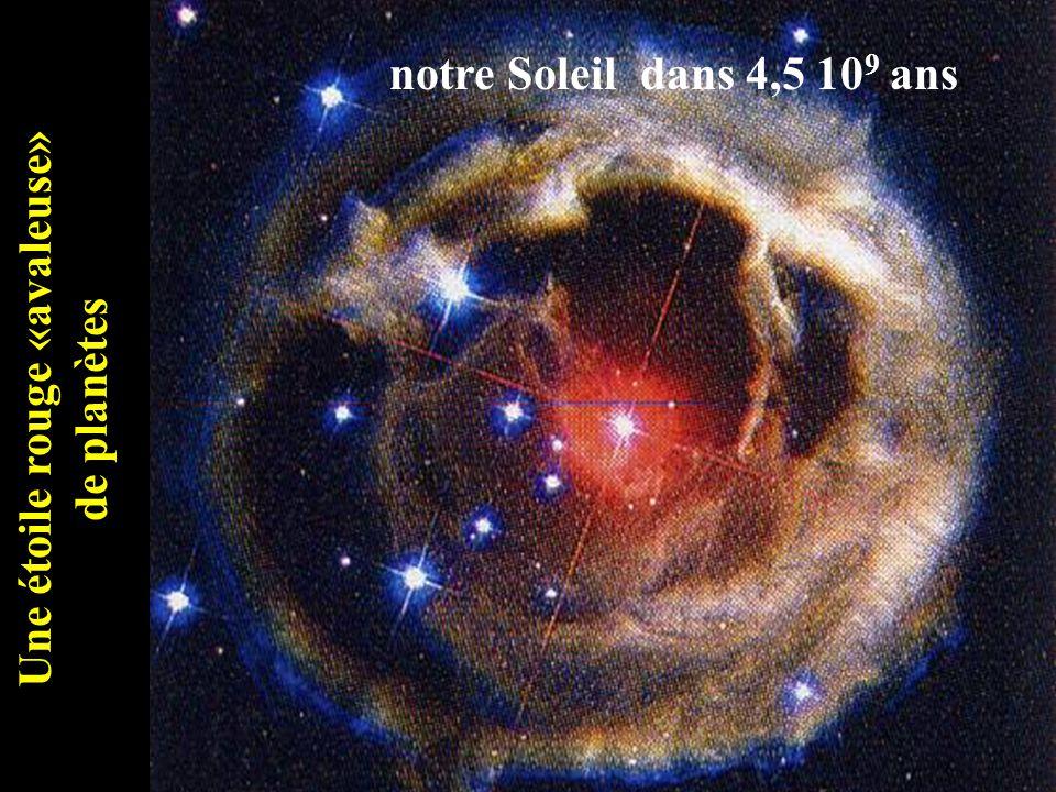 Une étoile rouge «avaleuse» de planètes