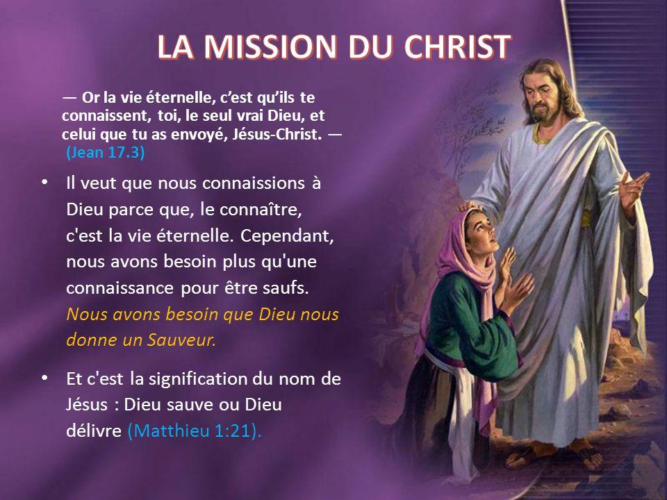 LA MISSION DU CHRIST