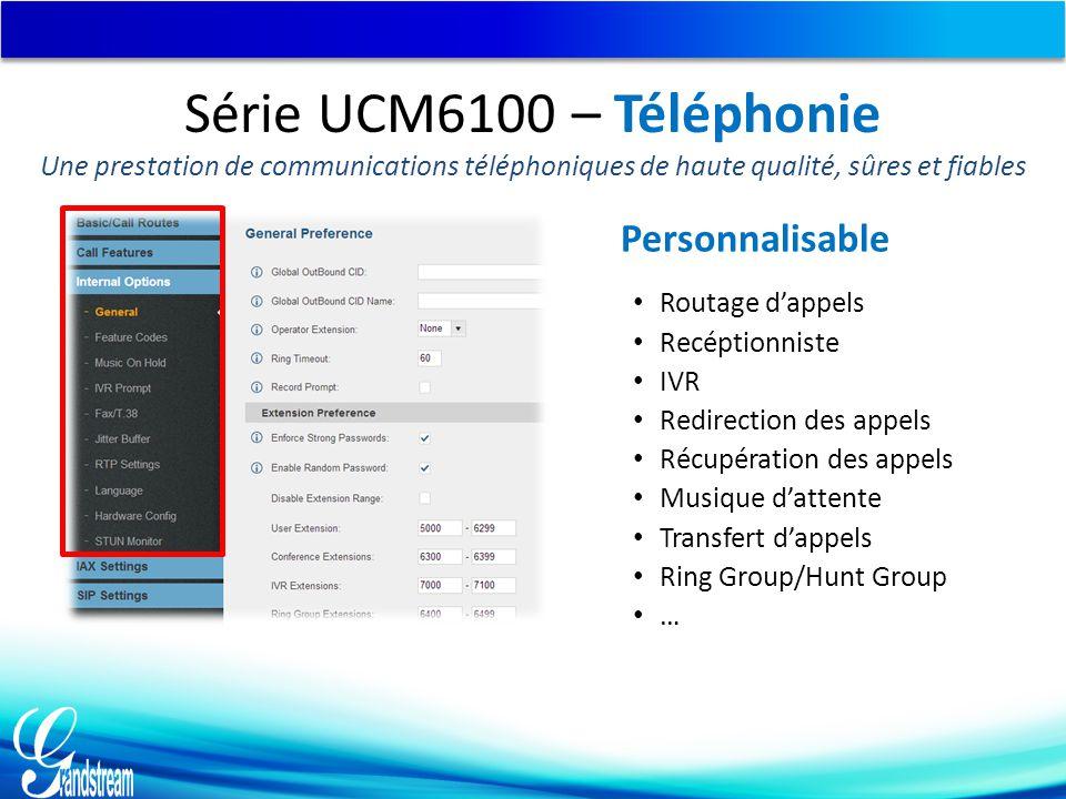 Série UCM6100 – Téléphonie Personnalisable
