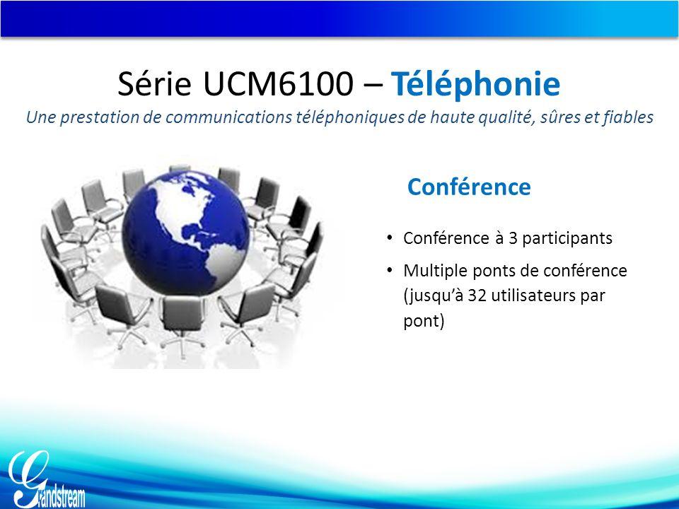 Série UCM6100 – Téléphonie Conférence