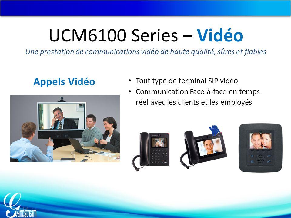 UCM6100 Series – Vidéo Appels Vidéo