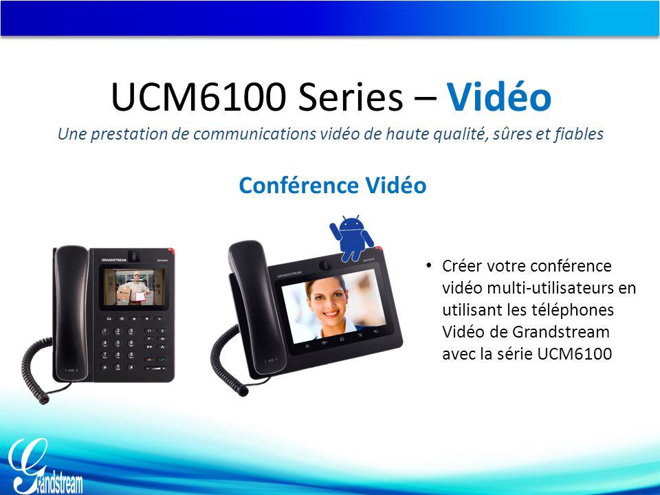 UCM6100 Series – Vidéo Conférence Vidéo