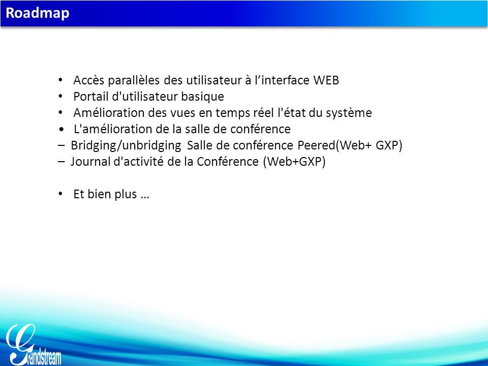 Roadmap Accès parallèles des utilisateur à l'interface WEB