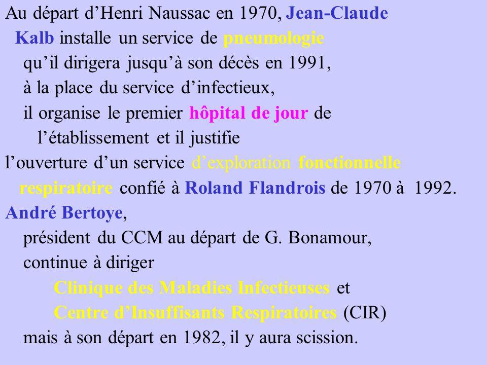 Au départ d'Henri Naussac en 1970, Jean-Claude