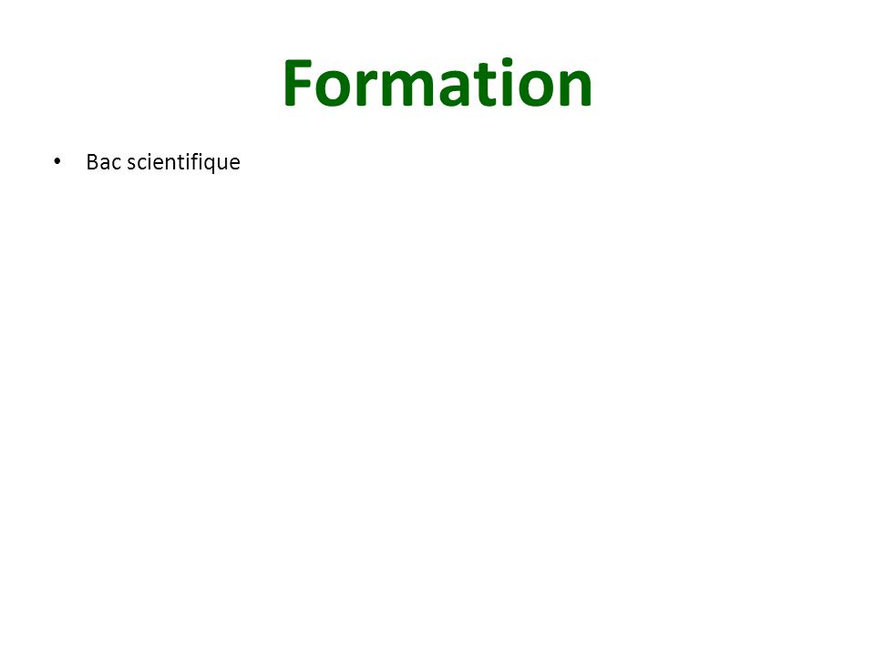 Formation Bac scientifique