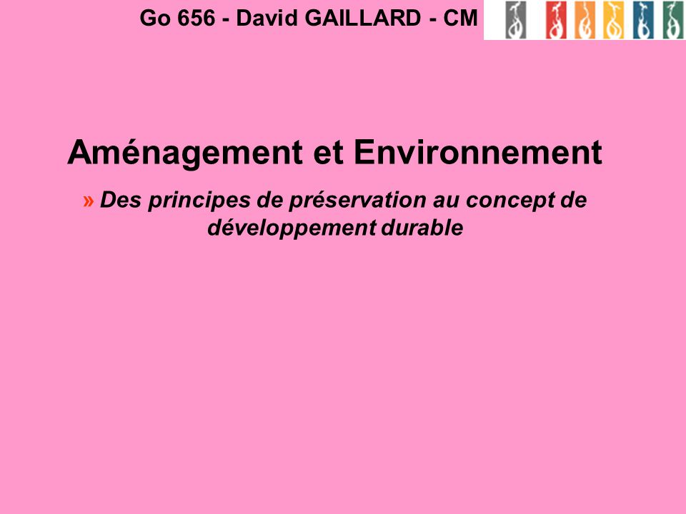 Aménagement et Environnement