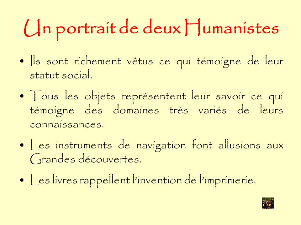 Un portrait de deux Humanistes