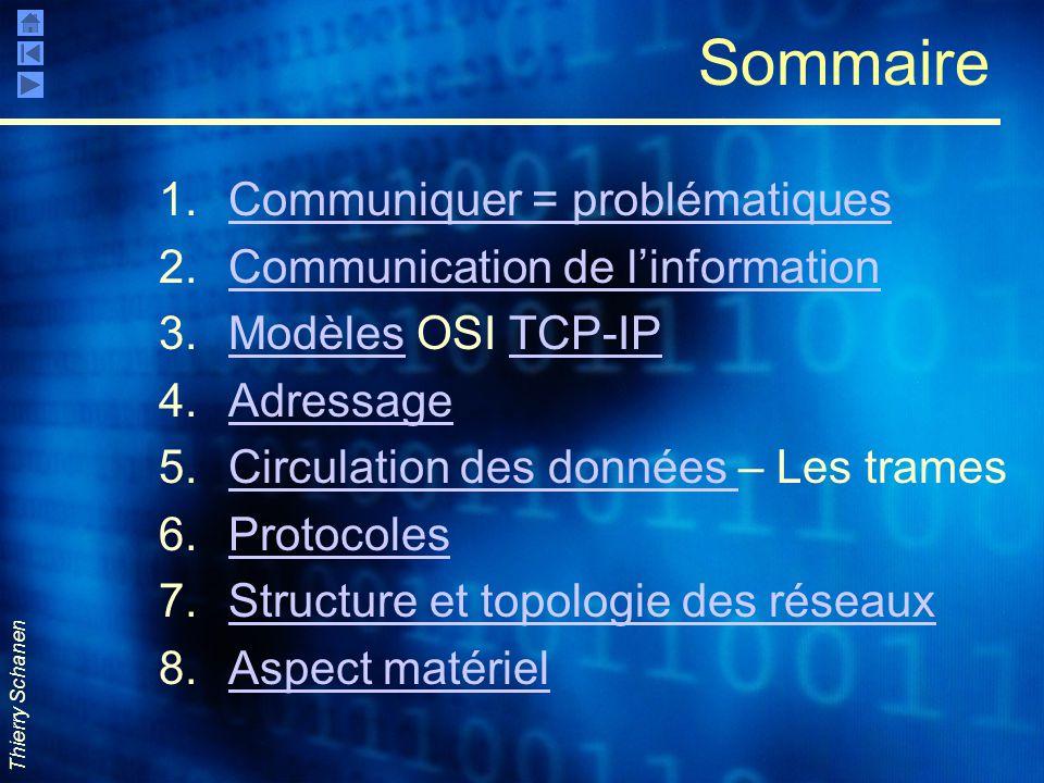 Sommaire Communiquer = problématiques Communication de l'information