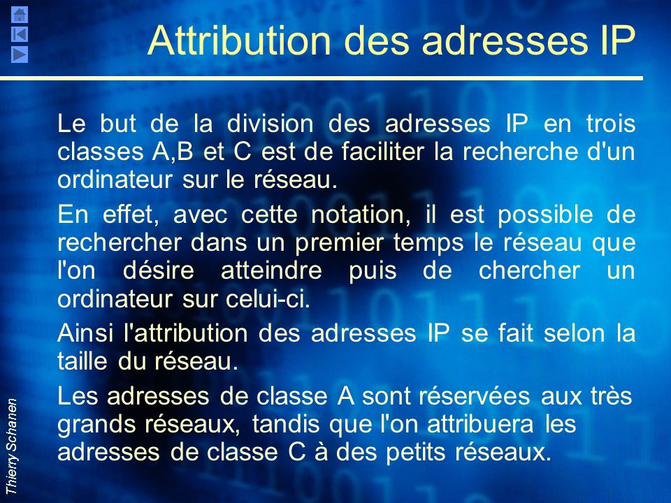 Attribution des adresses IP