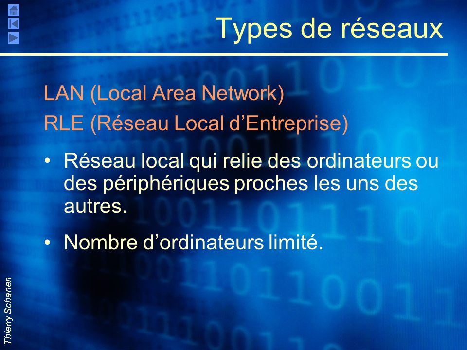 Types de réseaux LAN (Local Area Network)