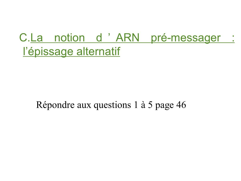 Répondre aux questions 1 à 5 page 46