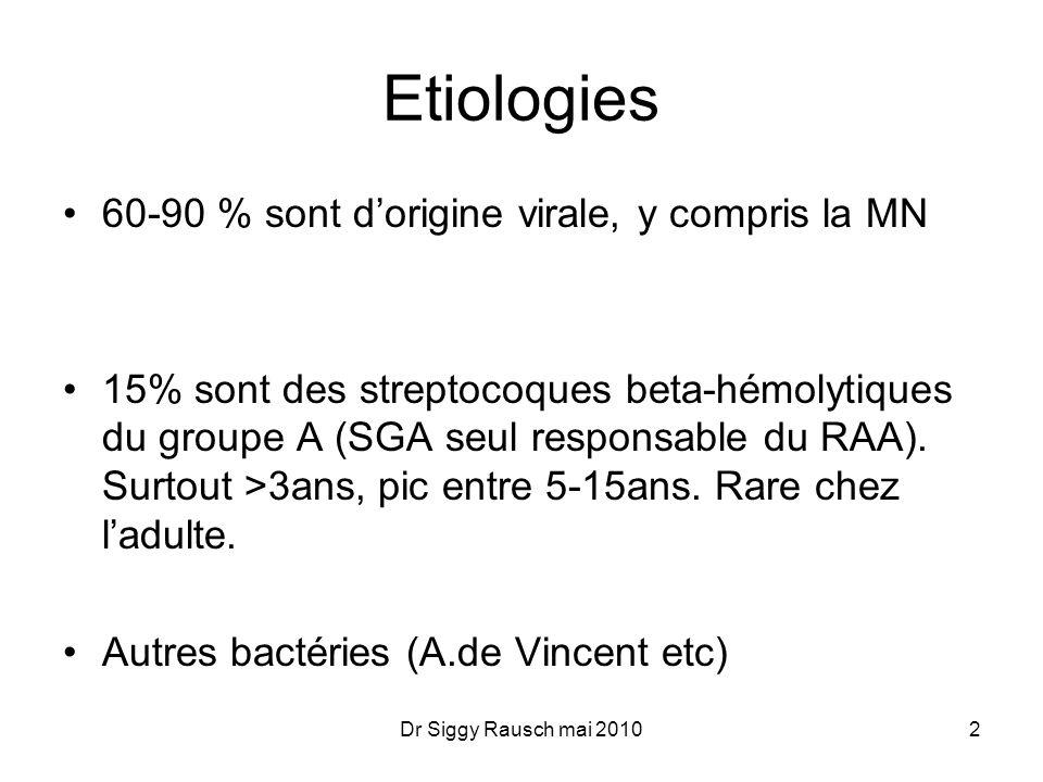 Etiologies 60-90 % sont d'origine virale, y compris la MN
