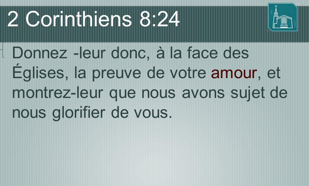 2 Corinthiens 8:24