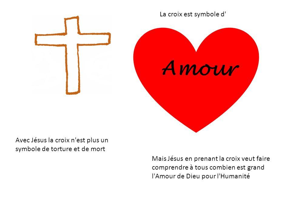 Amour La croix est symbole d