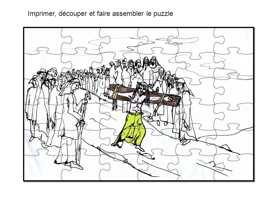 Imprimer, découper et faire assembler le puzzle