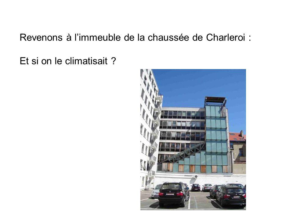 Revenons à l'immeuble de la chaussée de Charleroi :