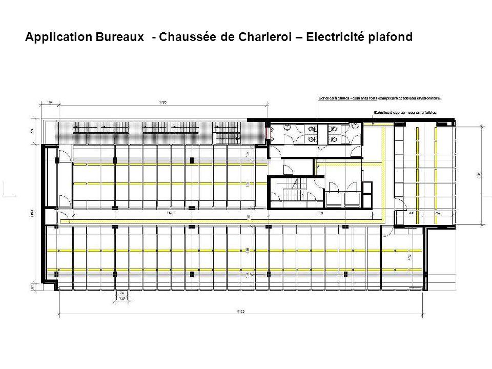 Application Bureaux - Chaussée de Charleroi – Electricité plafond
