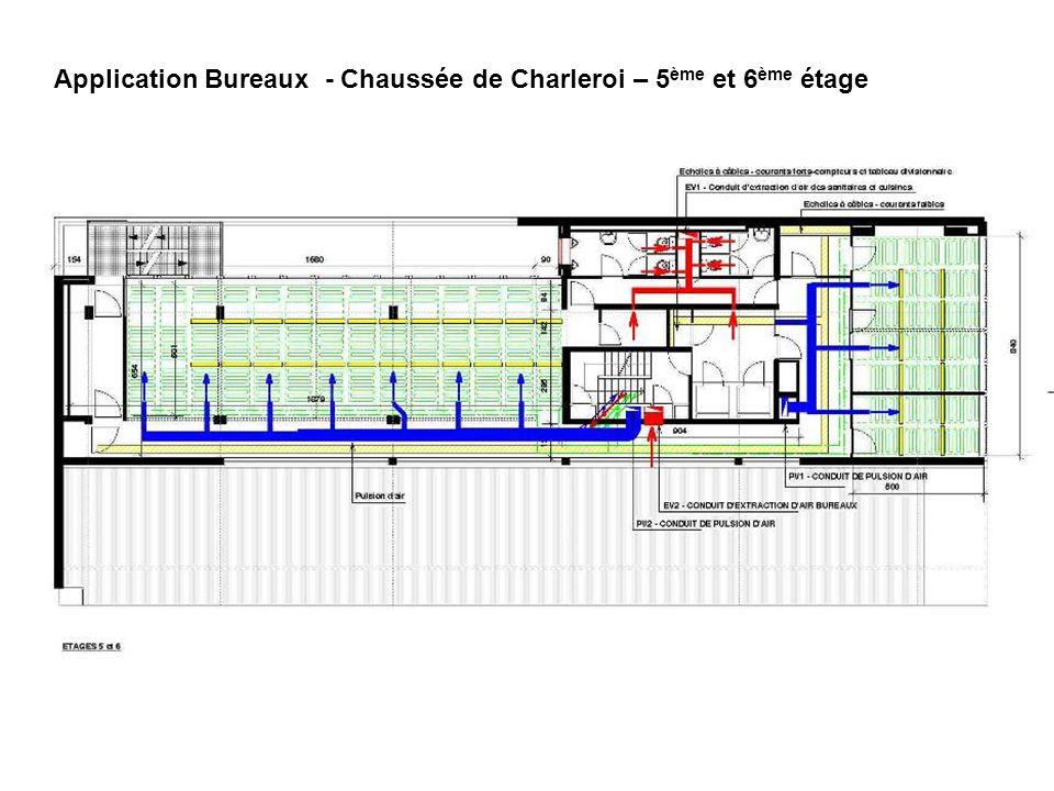 Application Bureaux - Chaussée de Charleroi – 5ème et 6ème étage
