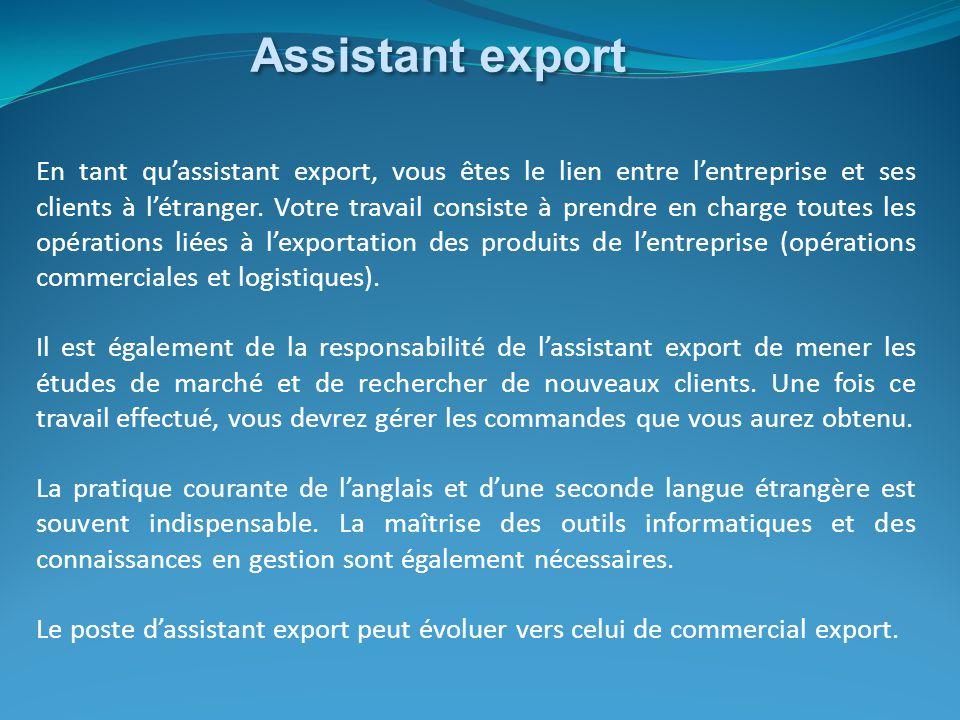 Assistant export