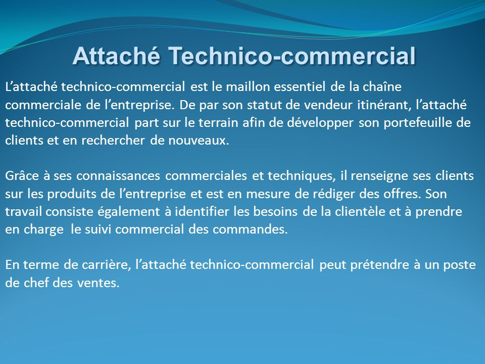 Attaché Technico-commercial