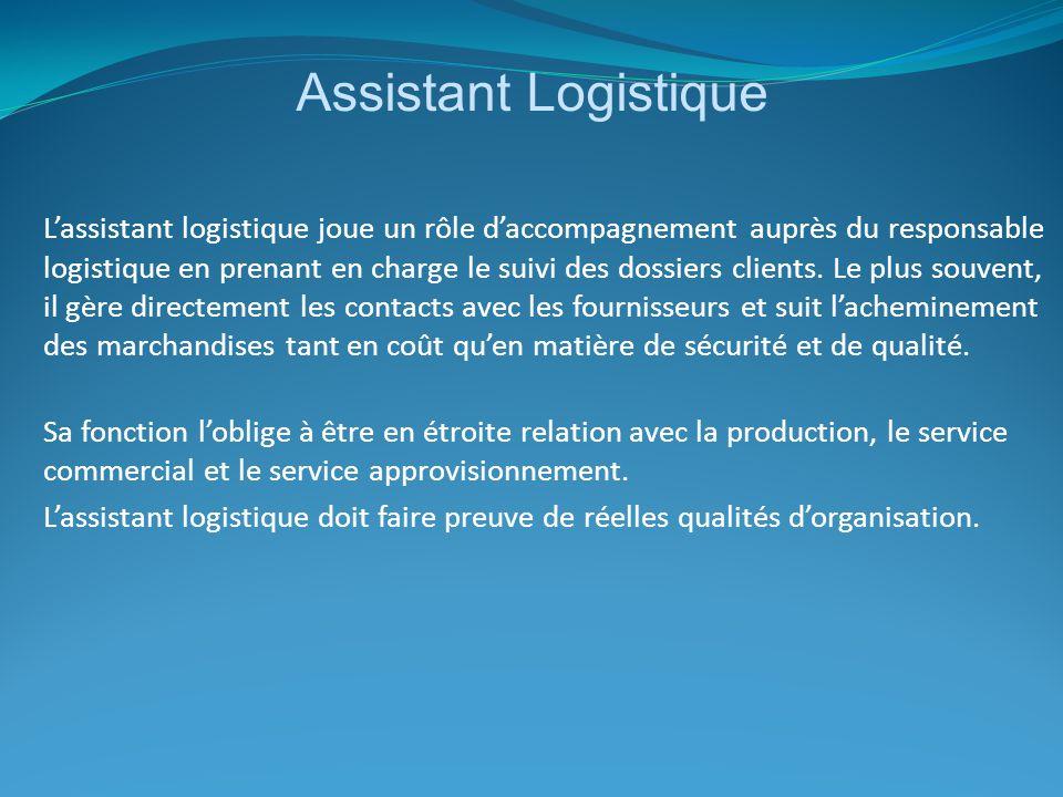 Assistant Logistique