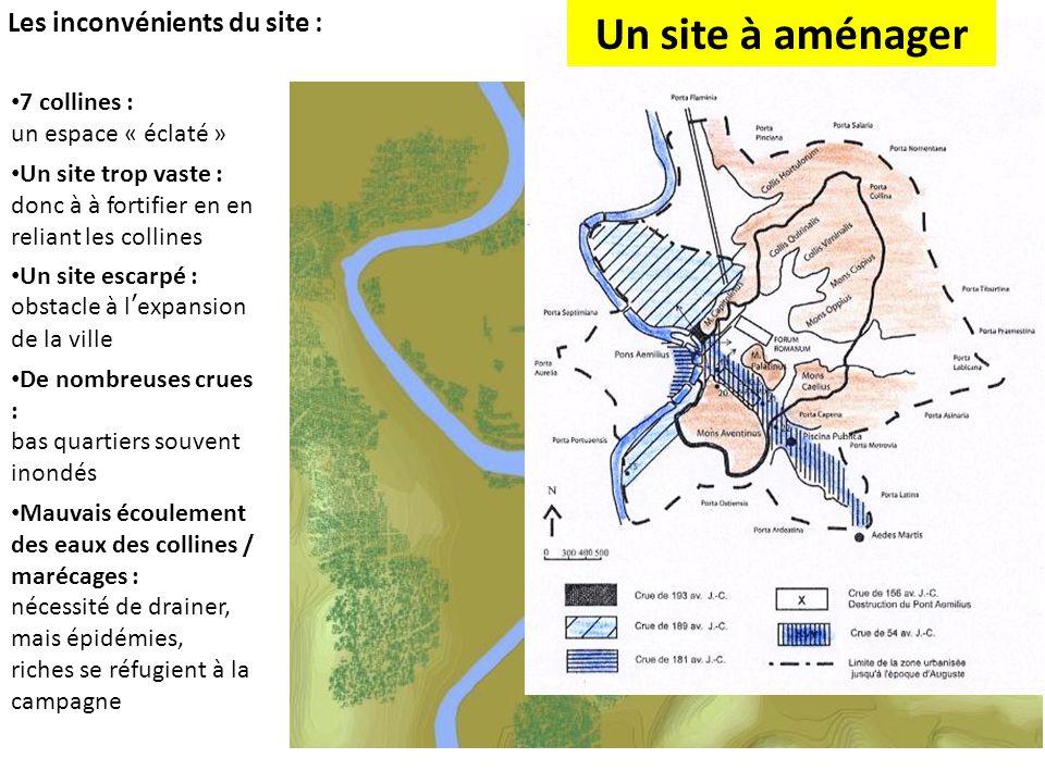Un site à aménager Les inconvénients du site : 7 collines :