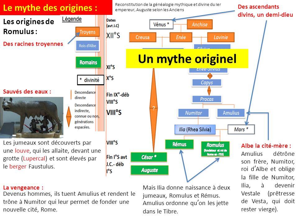Un mythe originel Le mythe des origines : Les origines de Romulus :