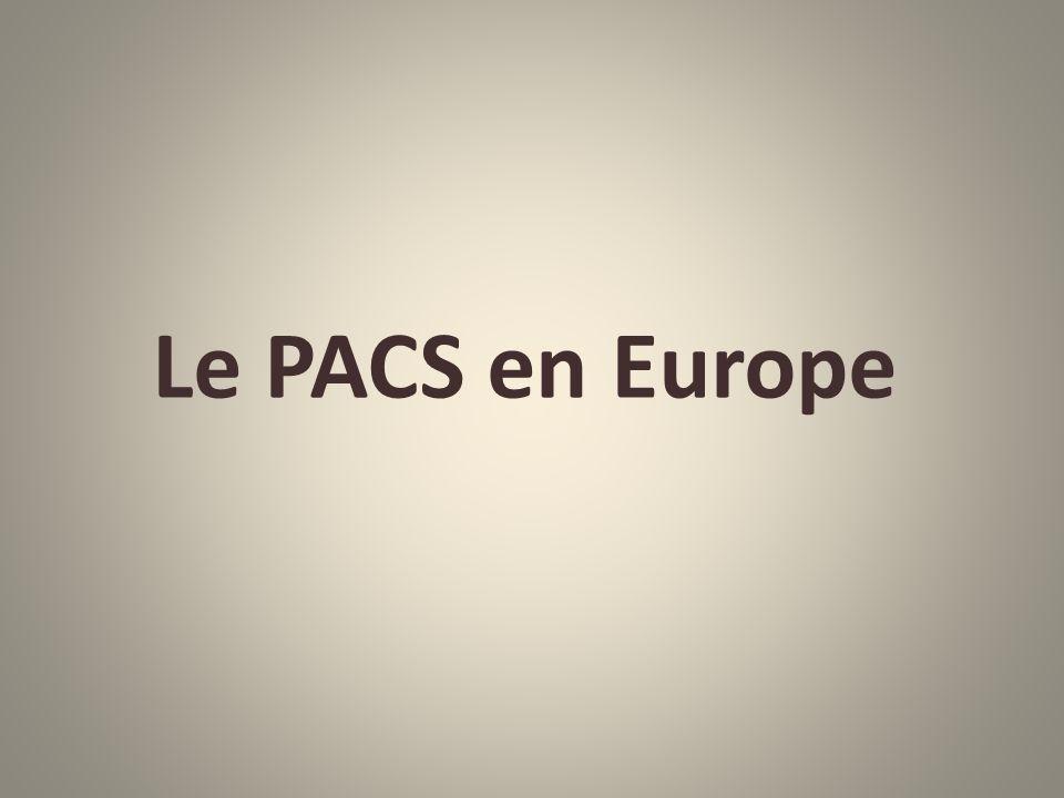 Le PACS en Europe