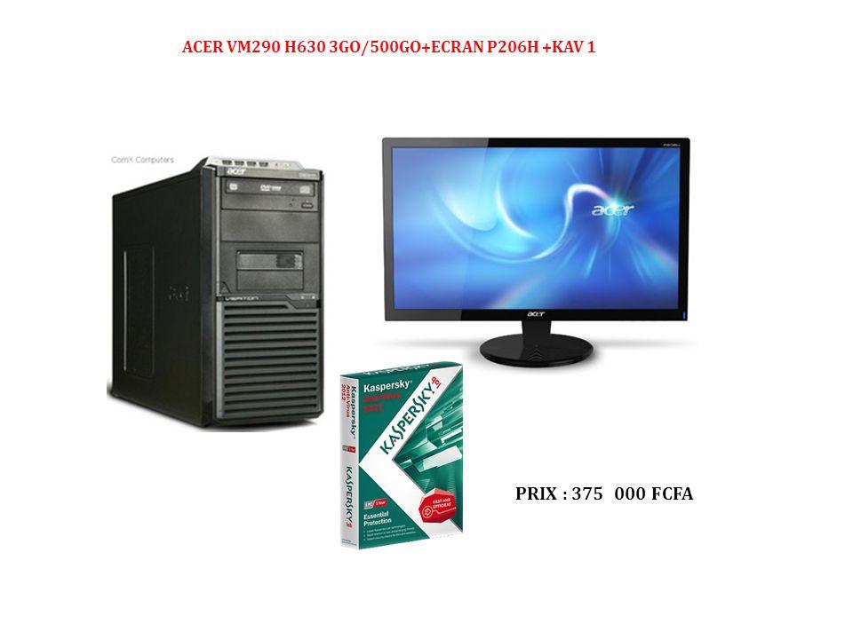 ACER VM290 H630 3GO/500GO+ECRAN P206H +KAV 1
