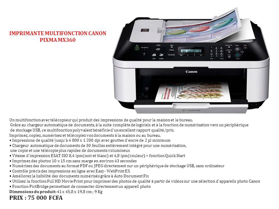 IMPRIMANTE MULTIFONCTION CANON PIXMA MX360